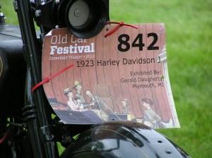 1923 Harley tag