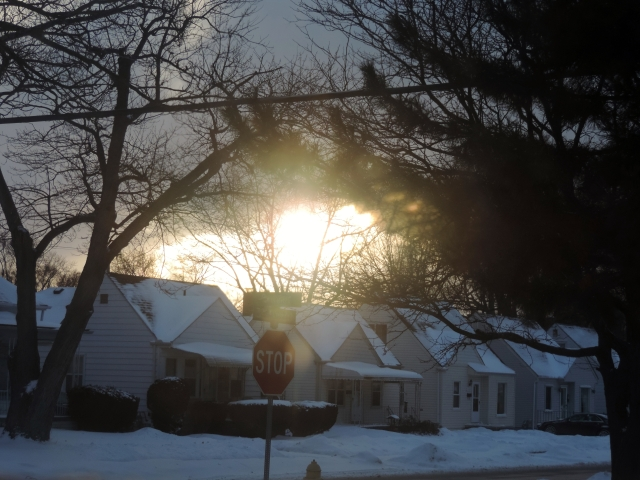 Fireball in the Winter Sky